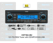 12 Volt PKW Auto Radio, RDS-Tuner, CD, MP3, WMA, USB, 12V CD716U-BU (CD7316U-OR)