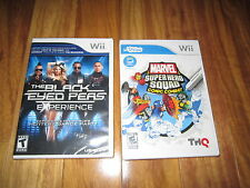 WII Marvel Super Hero Squad Comic Combat & The Black Eyed Peas Experience Wii