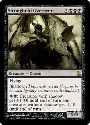 STRONGHOLD OVERSEER Time Spiral MTG Black Creature — Demon RARE