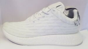 hot sale online 59552 c25eb Details about Adidas NMD R2 Primeknit 'Triple White' Granite BY2245 Women's  Size 7.5
