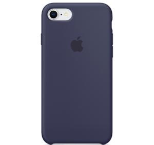 iPhone-8-7-SE-2020-Apple-Echt-Original-Silikon-Schutz-Huelle-Mitternachtsblau