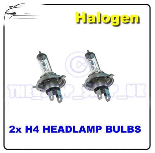 2 x Replacement Halogen H4 100//90w Head Lamps Light Bulbs