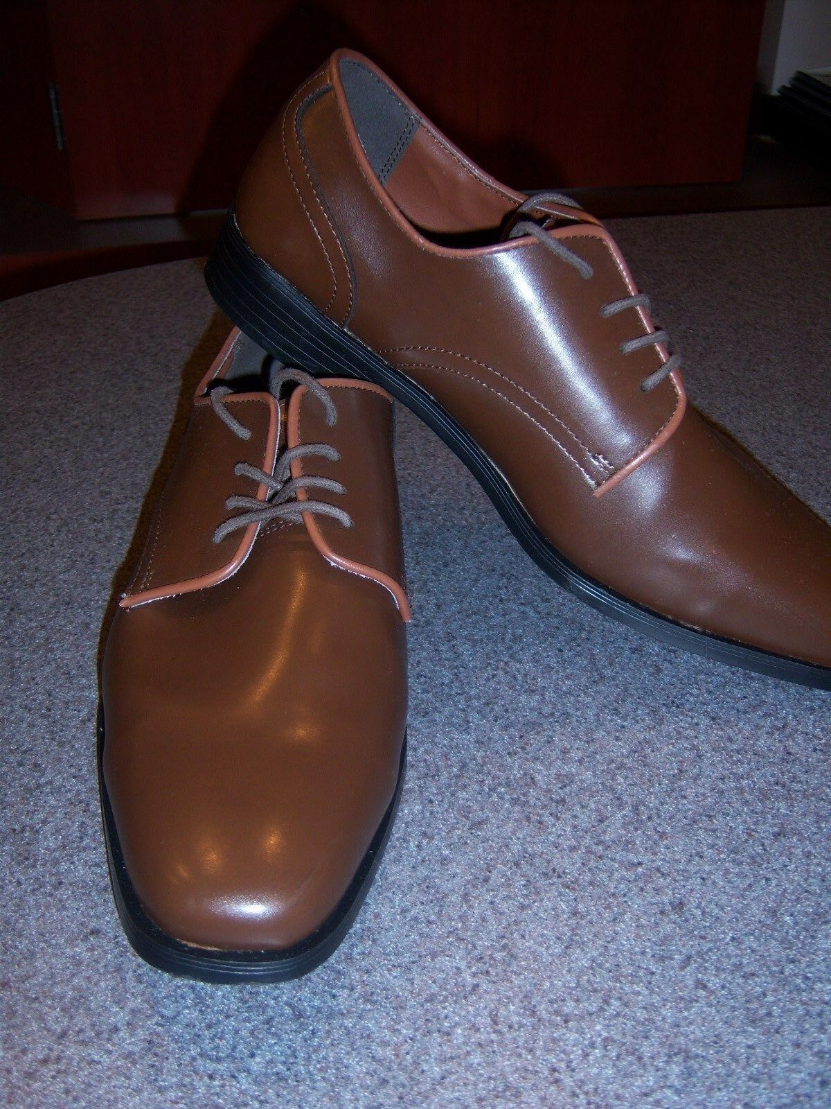 Mens Dress shoes - Maple Brown Matte style finish square toe oxford style Matte - most sizes 358325