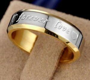 Band Rings Titanium Steel Men Women Promise Couple Wedding Forever Love Ring