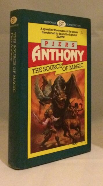 THE SOURCE OF MAGIC - Piers Anthony - 1ST UK HB - Xanth - MacDonald
