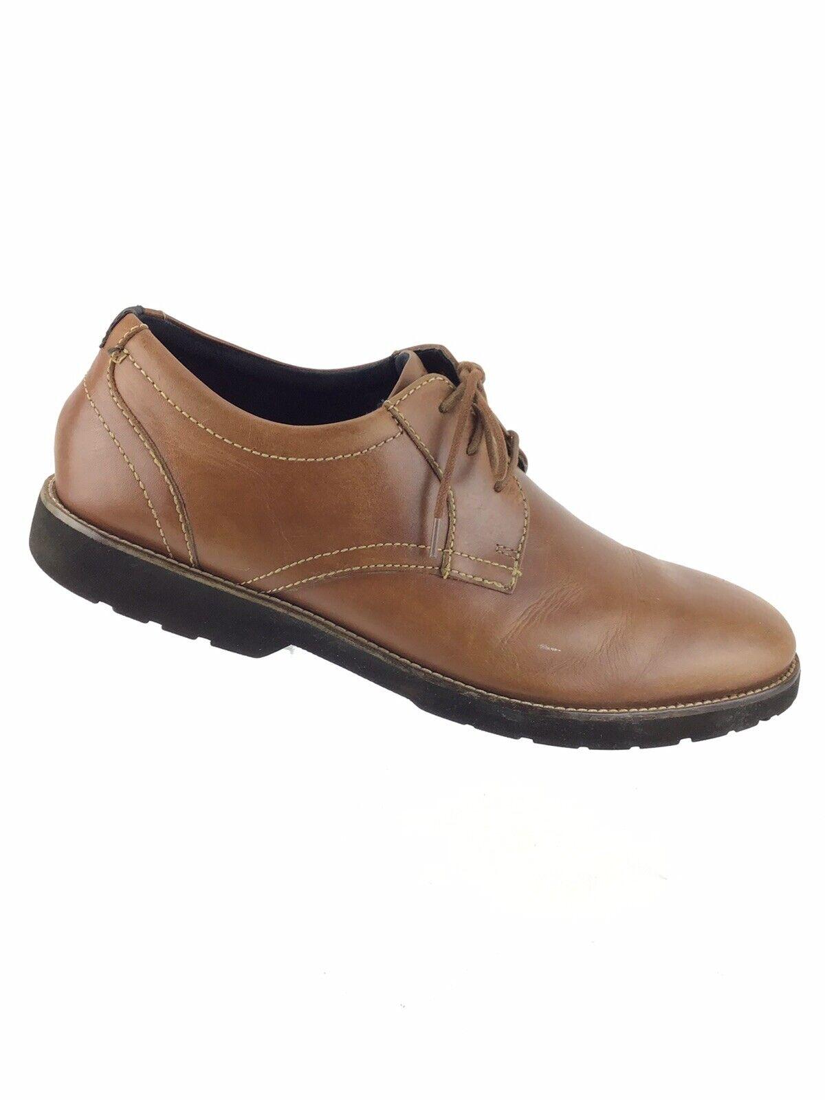 Rockport Classic Zone PT Cognac Leather Lightweight Oxfords, V79657 Men 13 M B3