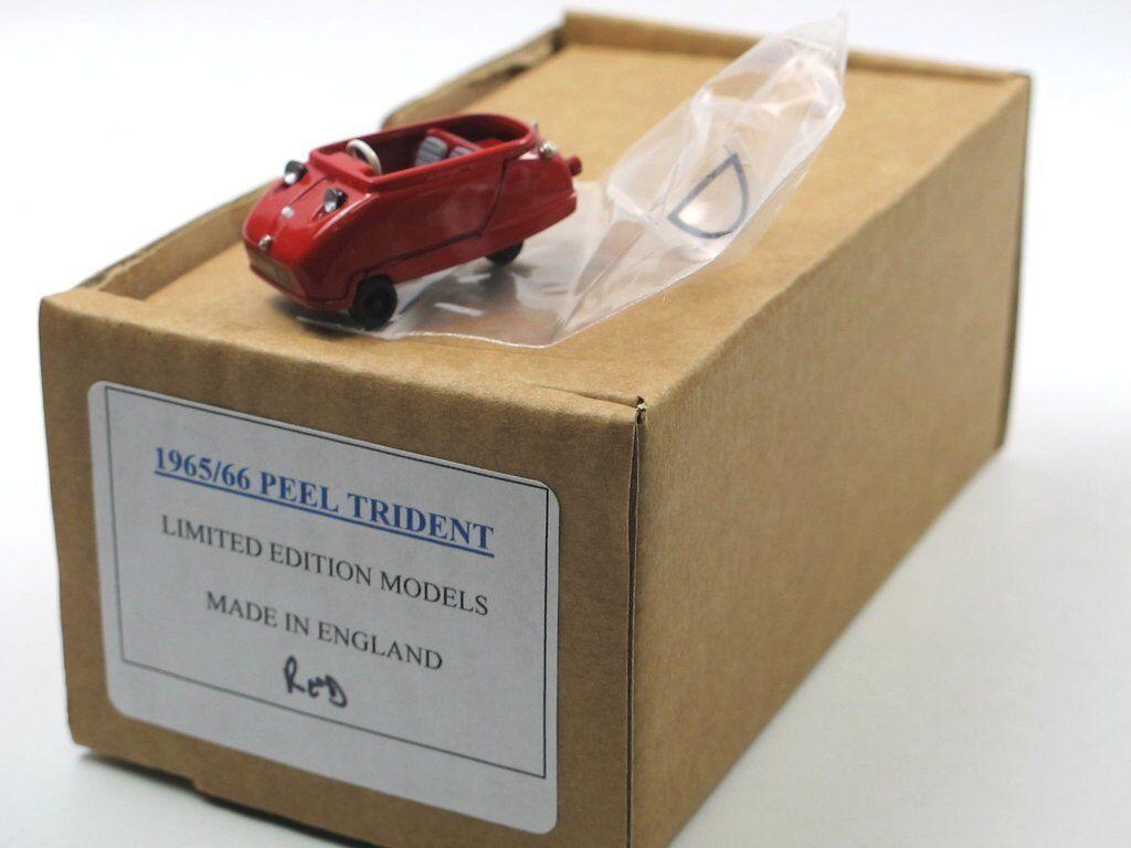 SAMS Model Cars 1965 Peel Trident MICROCAR VELO ROSSO 1 43 BIANCO METALLO NUOVO