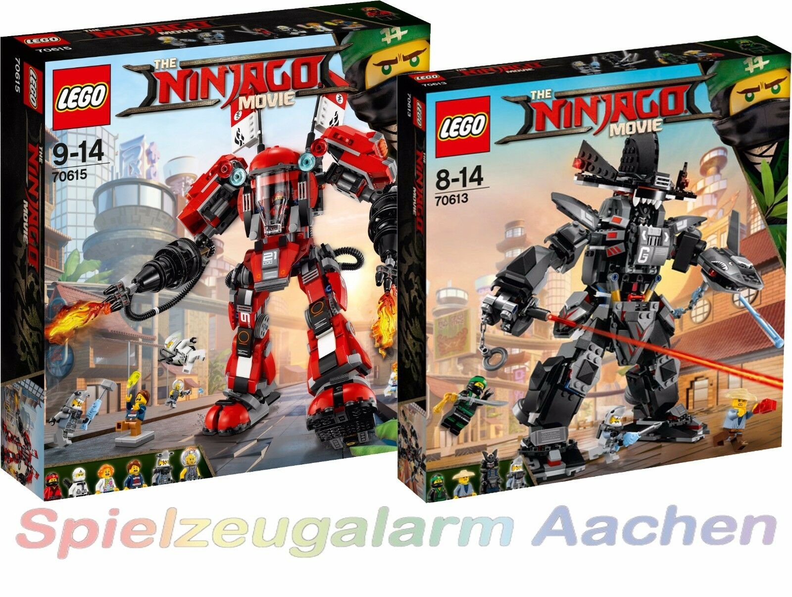 LEGO NINJAGO THE MOVIE™ Ultimatives Mech Set 70615 + 70613 N8 17