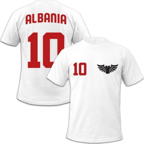 Albania Kinder T-Shirt Wunschnummer auf Rücken TOP  WM EM Fan Albanien Team