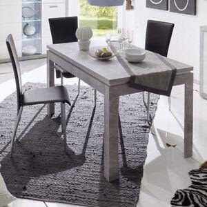 esstisch stone k chentisch in beton optik grau und wei hochglanz 140 180x80 cm ebay. Black Bedroom Furniture Sets. Home Design Ideas