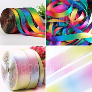Rainbow-Unicorn-Satin-Grosgrain-Ribbon-Floristry-Cake-Birthday-Gift-Wrap-Craft