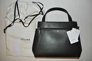557567286 Image is loading CELINE-Palmelato-Calfskin-Leather-Medium-Edge-Shoulder-Bag-