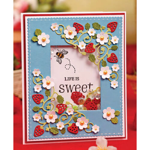Strawberry Metal Cutting Dies Stencil Scrapbooking Paper Card Embossing Craft 9H