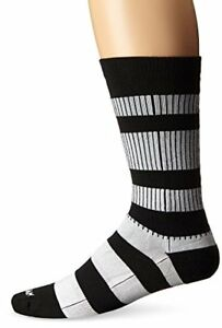 wigwam men's channel black and white casual crew socks