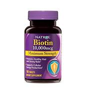 Natrol Biotin 10,000 Mcg Maximum Strength Tablets, 100 Count Pack Of 2