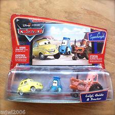 Disney PIXAR Cars LUIGI & GUIDO & TRACTOR Supercharged Movie Moments diecast 3PK