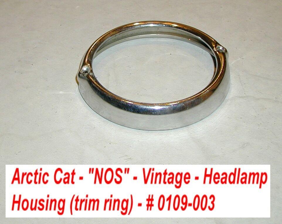 Arctic Cat Headlamp Housing - Bezel  NOS Vintage '67-'70 Panther