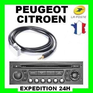 Cable-Auxiliaire-aux-3-5mm-output-pour-Peugeot-Citroen-ex-206-207-407-C3-C4-top