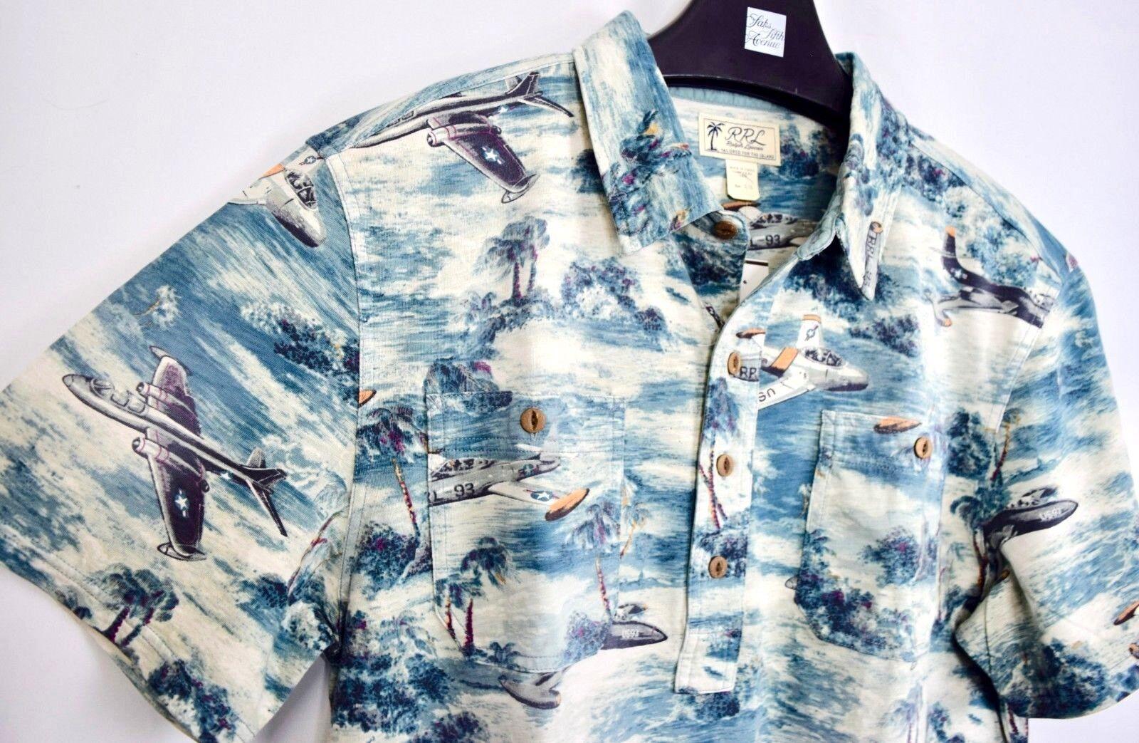 ee0471dcbc RRL Ralph Lauren 1940s Vintage Inspired Washed Jersey Work Shirt-MEN- XL. We 're ...