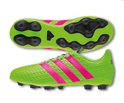 carro Salida pasado  adidas Ace 16.4 FXG Youth Soccer Cleats Shoes Black Green Pink Size 4.5 NEW  | eBay
