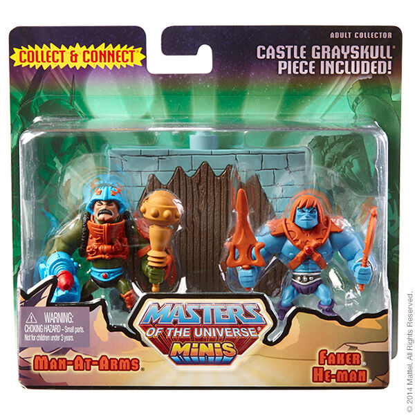 Mini motu number 4 man at arms vs. faker masters of the universe classics new ovp