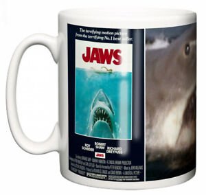 "Roy Scheider Mug ""Classic 70's Hollywood Spielberg Movie Poster Jaws"" Gift"