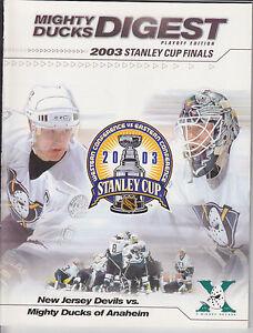 2003 Stanley Cup Final Program Neuf Jersey Devils @ Mighty Ducks Of Anaheim