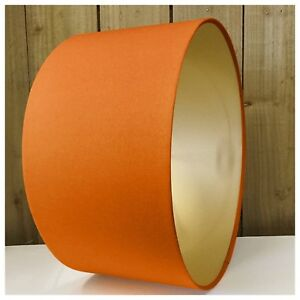 Image Is Loading Burnt Orange Amp Metallic Gold Lampshade Lightshade Ceiling