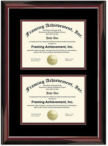 image is loading dual diploma frame double degree certificate framing two - Dual Diploma Frame