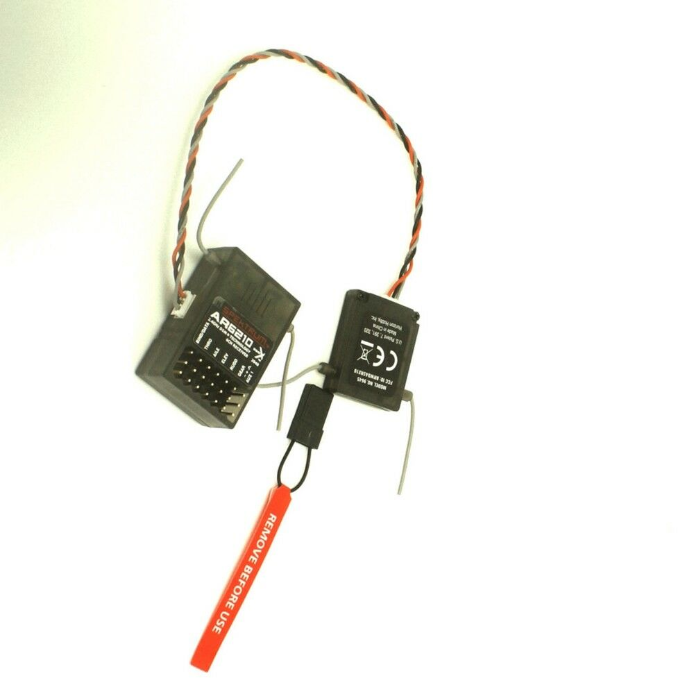 For Spektrum Transmitter TX RC    AR6210 DSMX 6-Channel Receiver + Satellite 5acbd1