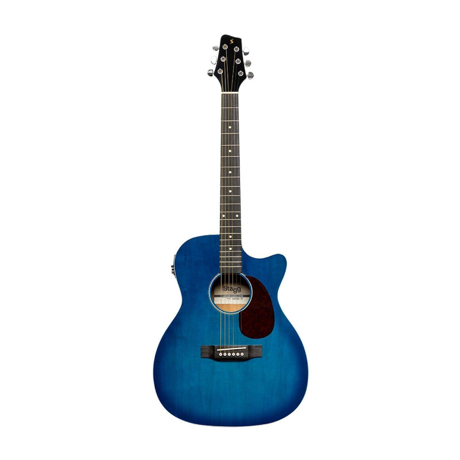 SA35 ACE-TBCutaway, akustisch-elektrische Auditorium Gitarre, Transparent Blau
