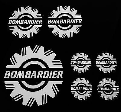 Seadoo Skidoo ATV 104 Bombardier 7 Piece Universal Sticker//Decal set 16 Colors