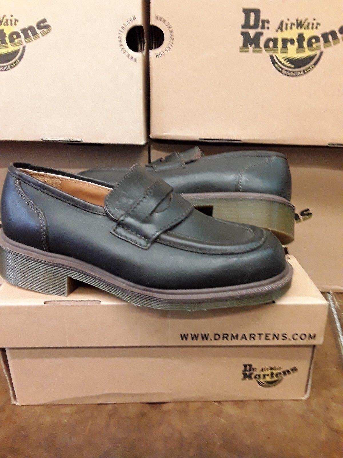 Los para últimos zapatos de descuento para Los hombres y mujeres Dr Martens tacón mocasín marrón d38475
