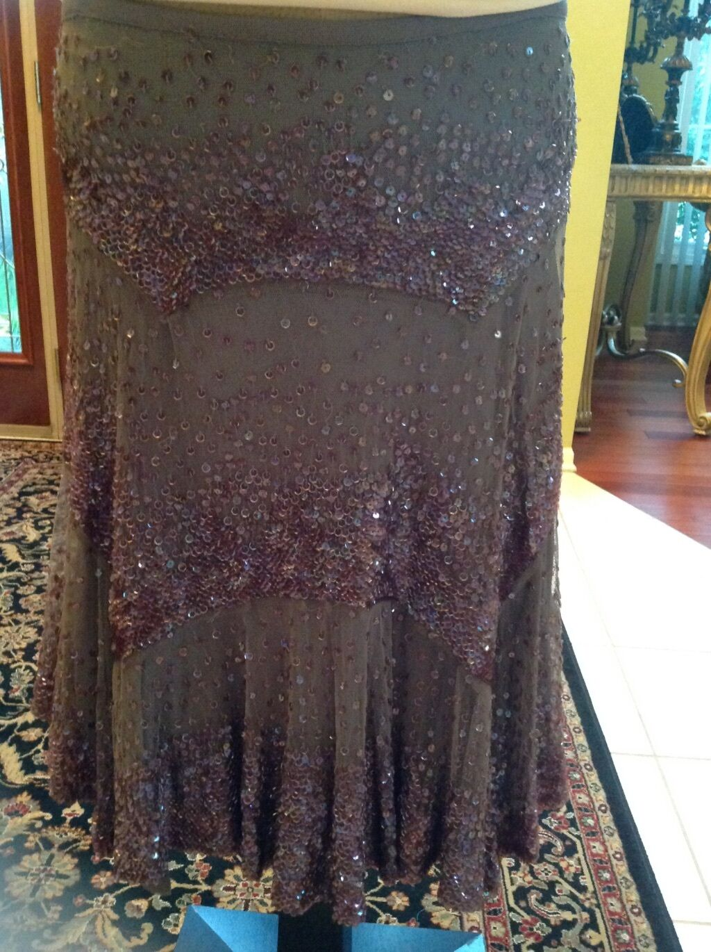 Gorgeous Evening Mauve & braun Sequins Skirt by Fench Connection, Größe 10, NWT