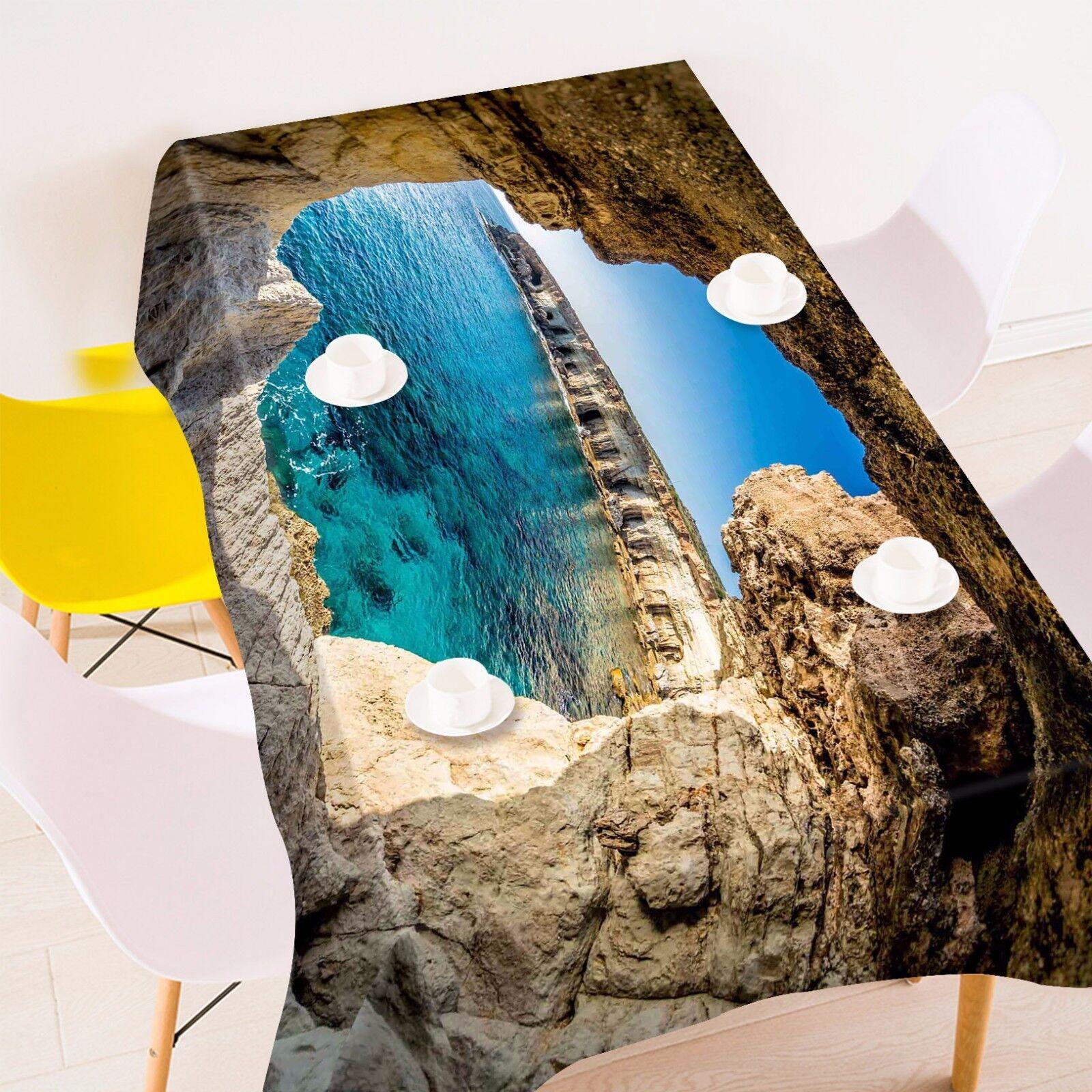 3D Ocean 5 Tablecloth Table Cover Cloth Birthday Party AJ WALLPAPER UK Lemon