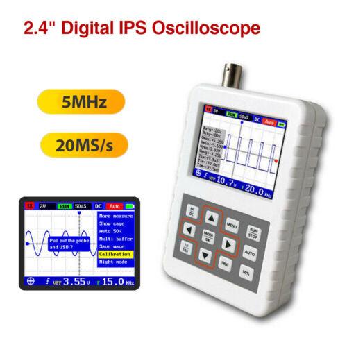 """DSO Pro 5 MHz Bande passante 20MSa//s Mini Portable 2.4/"""" IPS LCD Digital Oscilloscope"""