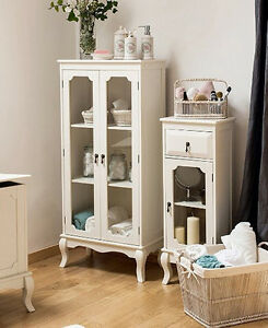 Bon Image Is Loading French Display Cabinet Shabby Chic Furniture White Glass