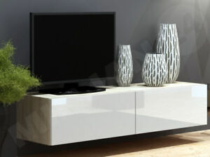 h nge tv schrank lucas 140 tv kommode lowboard h ngeschrank farbauswahl h ngend ebay. Black Bedroom Furniture Sets. Home Design Ideas
