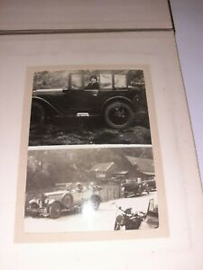 VINTAGE-6-1-2-INCHES-PHOTOGRAPH-ALBUM-20-PICTURES-CARS-GOLF-1920s-1930s-AMAZING