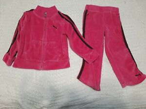 3T Size 2T 4T New Girls Under Armour Track Outfit Jacket, Pants; Black//Pink