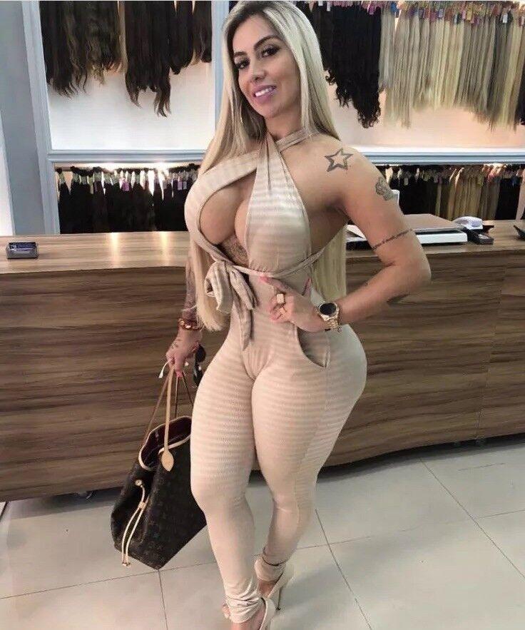 Brazilian Sexy Jumpsuit- Champagne Size M