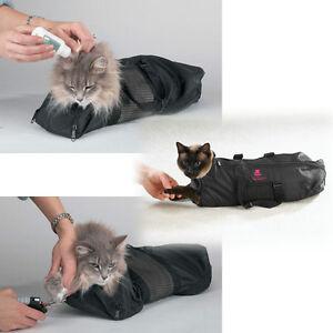 Heavy Duty Mesh Cat Grooming Bathing Restraint Bag 3 Sizes & Vet Sets Available