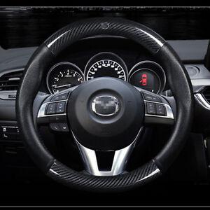Universal-Size-M-38cm15-034-Carbon-Fiber-Car-Steering-Wheel-Cover-For-Mazda-Series