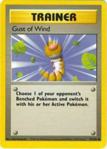 Unlimited Edition Base Set Gust of Wind Common 93//102