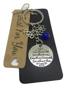 Bride To Be 2020 Something Blue Keyring// Keychain   Keepsake Gift