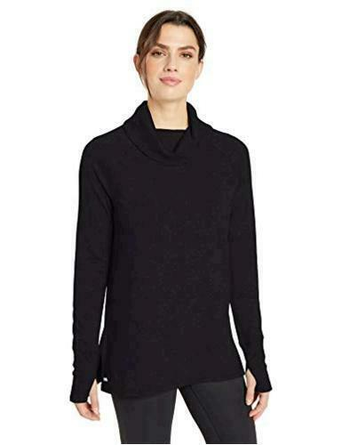 Essentials Women's Studio Terry Long-Sleeve, Graphite, Size X-Small