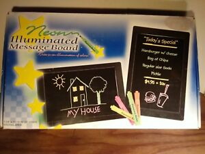 Details about Neon Illuminated Message Board - 7 3/4
