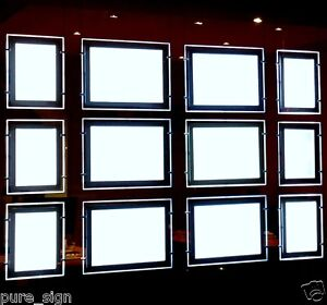 A4 2 Pieces LED Window Light Pocket Panel Estate Agent Display Kit Double Sides