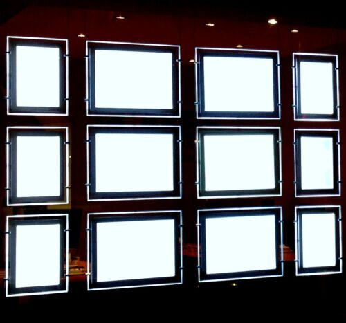 A4 3 Stück LED Fenster Licht Pocket Panel Immobilienmakler Display Satz
