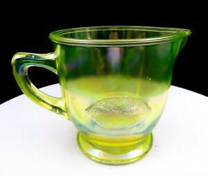 SUMMIT-ART-GLASS-LEMON-AND-ORANGE-EMBOSSED-VASELINE-GLASS-4-3-4-034-JUICE-PITCHER